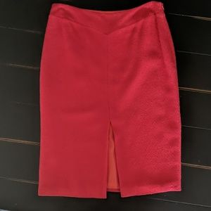 Moschino Red Textured Skirt